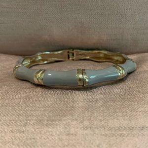 Sequin Gray Bamboo Enamel Bracelet- Narrow Width